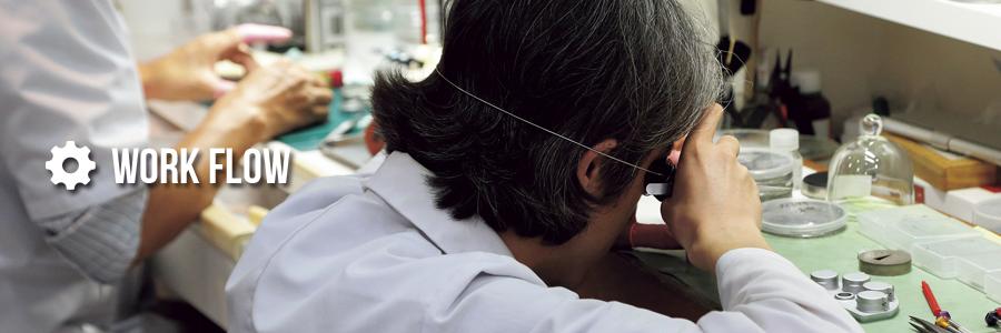 輸入時計修理作業風景 時計修理なら名古屋のウォッチリペアサービス