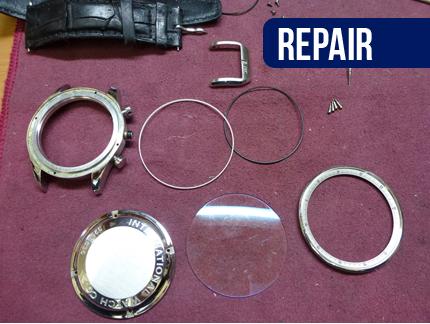 国産時計・輸入時計 外装修理・研磨・磨き 作業中