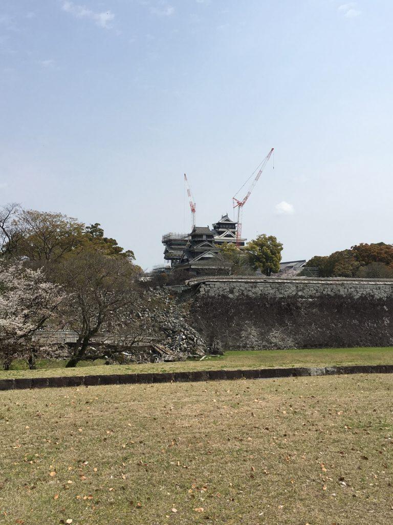 工事中の熊本城