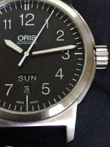 オリスの時計作業後