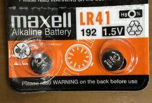 体温計用の電池LR41